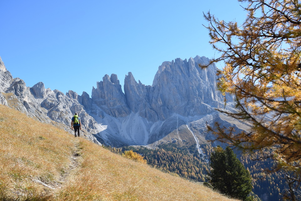 Hiking at the foot of the Catinaccio
